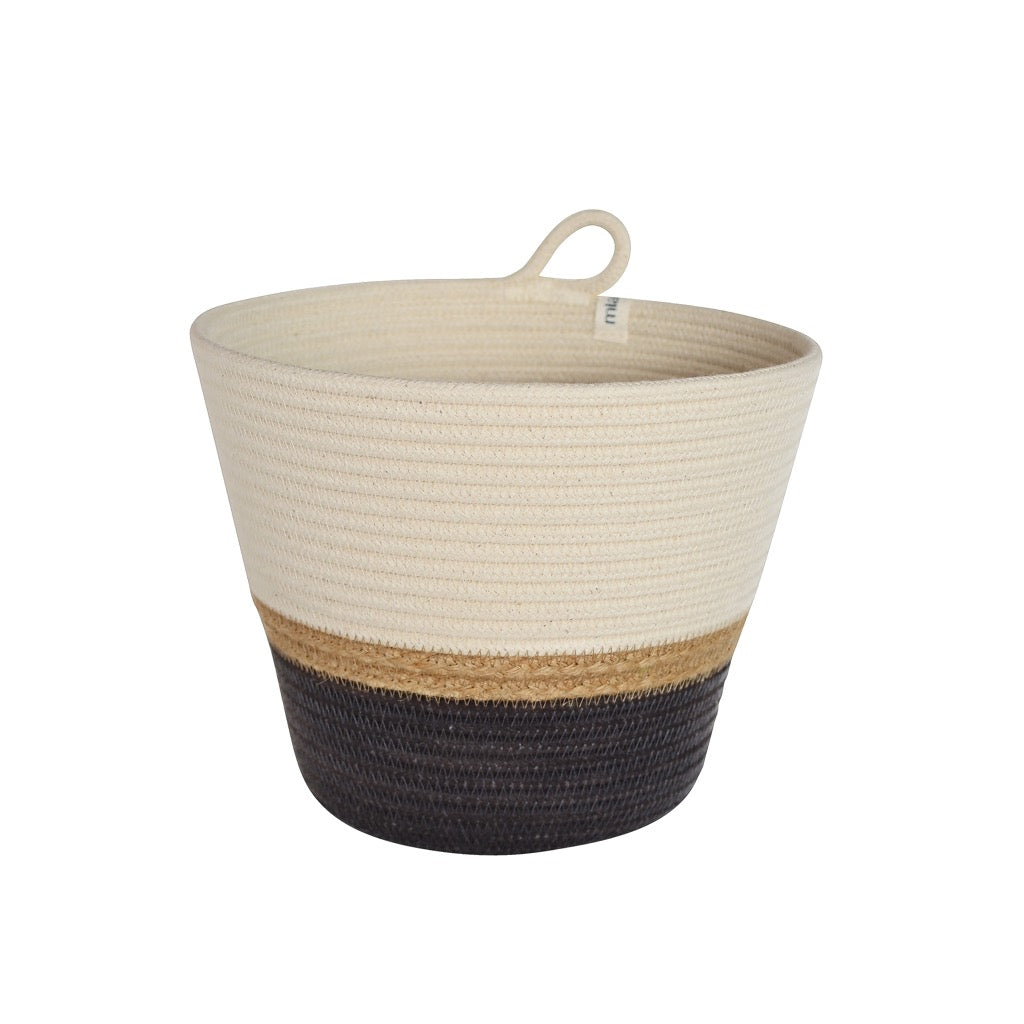 Planter Basket Jute & Charcoal