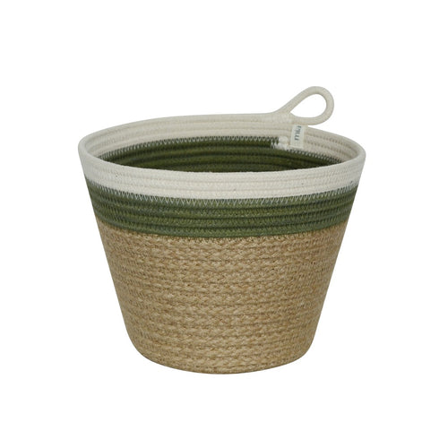 Planter Basket - Olive Jute Jungle