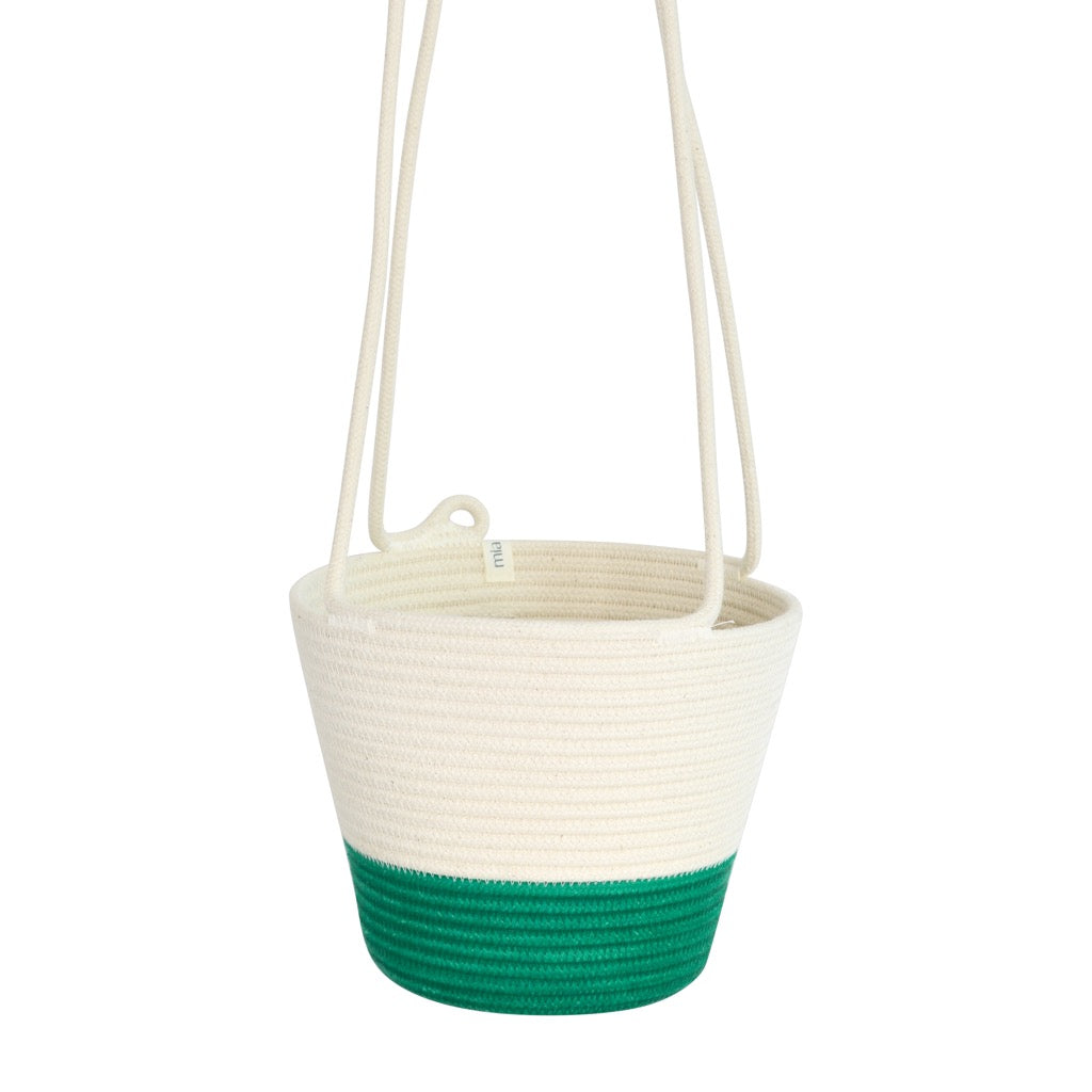 Hanging Planter - Green Block