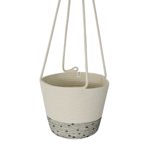 Hanging Planter - Stitched Polka Dot