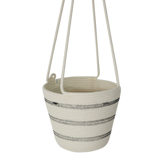 Hanging Planter - Stitched Striped