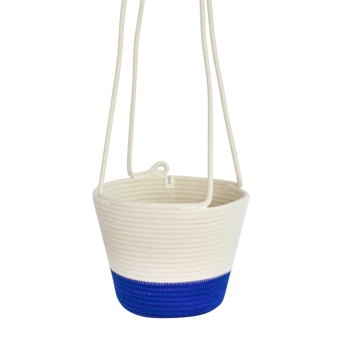 Hanging Planter - Royal Blue Block