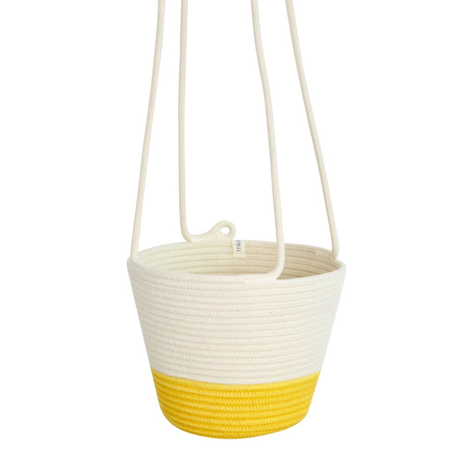 Hanging Planter - Yellow Block