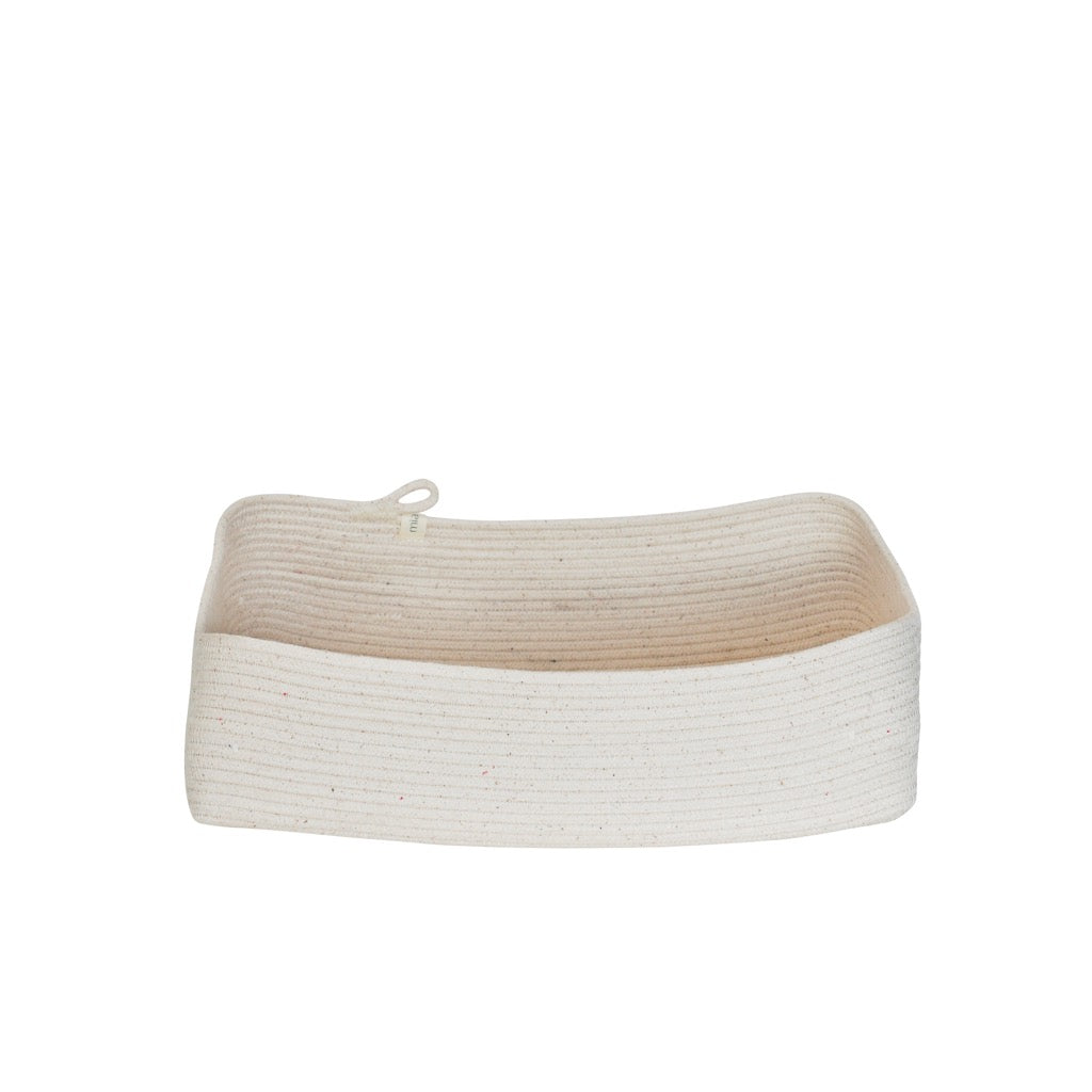 Rectangular Basket Ivory