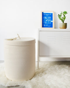 Lidded Laundry Basket - Ivory