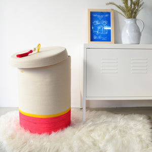 Lidded Laundry Basket Spring & Summer
