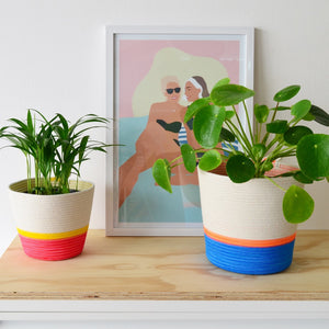 Planter Basket - Ocean Blue