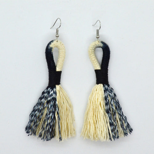 Earrings Ikat-Black