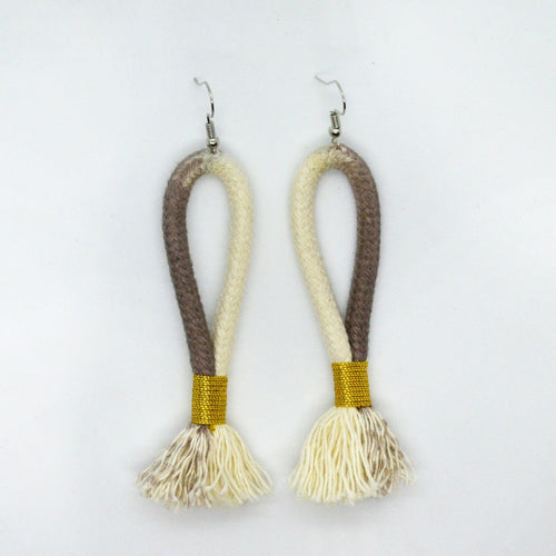 Earrings Ikat-Grey & Gold