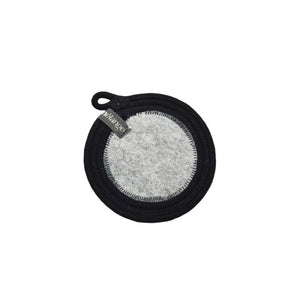 Coaster Black & Recycled Plastic Felt (set of 4)