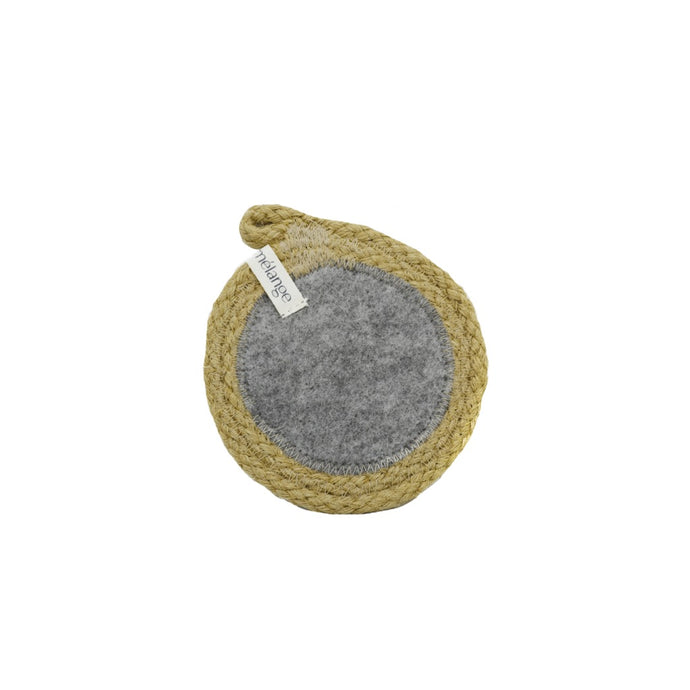Coaster Jute & Recycled Plastic Felt (set of 4)