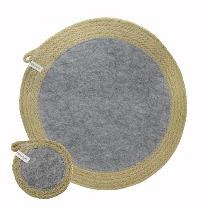 Placemats & Coasters Jute & Recycled Plastic Felt (set of 4 each)