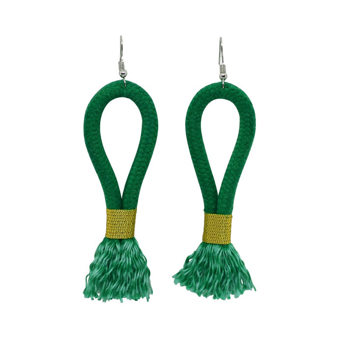 Earrings Emerald Green