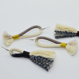 Earrings Ikat Grey