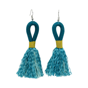 Earrings Teal