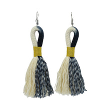 Earrings Ikat Black