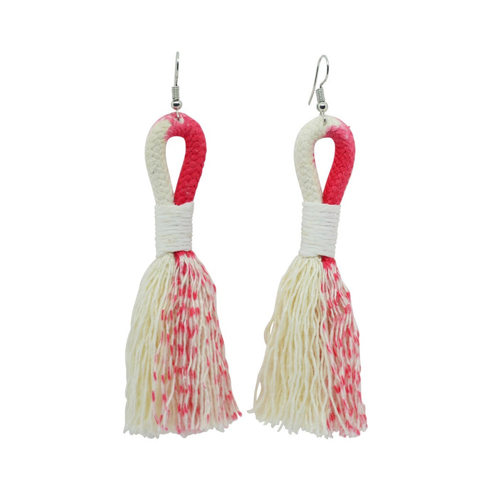 Earrings Ikat Coral