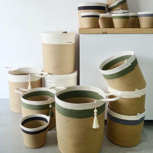 Lidded Laundry Basket - Jute Jungle