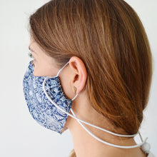 Blues 3 Layer Fabric Face Mask