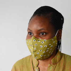Leopard Spots 3 Layer Fabric Face Masks