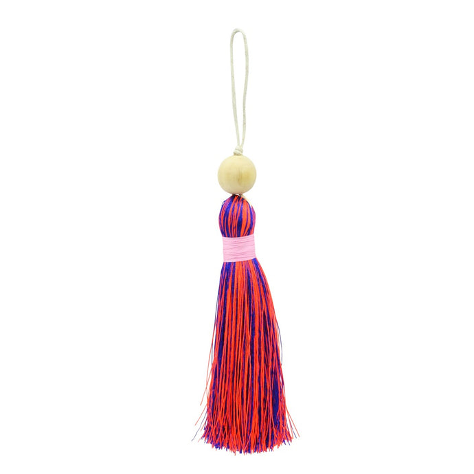 Multicoloured Tassel XL - Blue & Orange