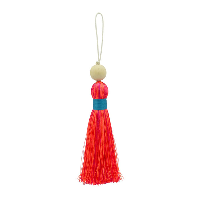 Multicoloured Tassel XL - Pink & Orange