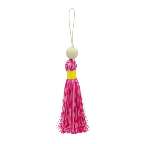 Multicoloured Tassel XL - Pinks