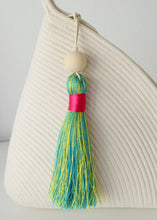 Multicoloured Tassel XL - Teal & Yellow