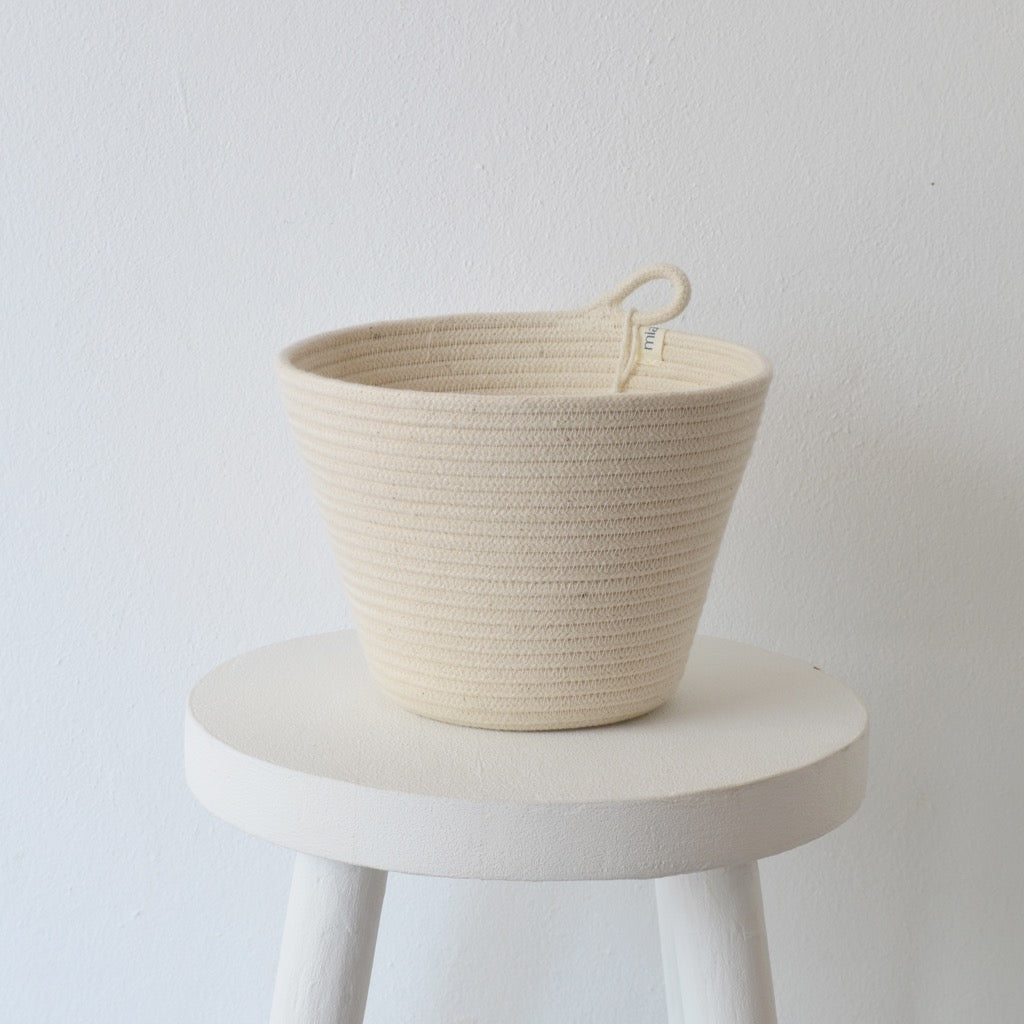 Planter Basket Ivory Small - SALE