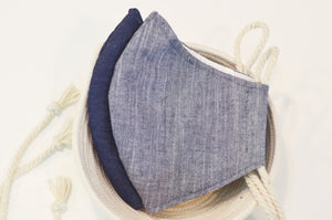 Fabric Face Mask Denim Mélange 3 Layer