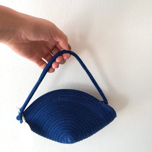 Mini Royal Blue Clam Bag - SALE