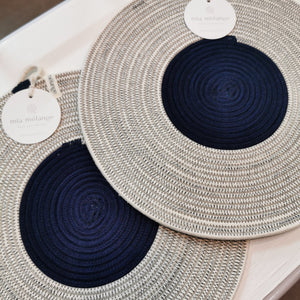 Navy Blue Placemats Set of 2 - SALE