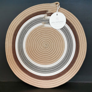 Placemat Polyprop Sand Stripes - SALE