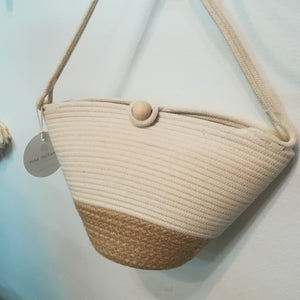 Button Bag Jute Block - SALE