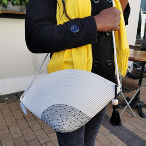 Polka Dot Stitched Clam Bag - SALE