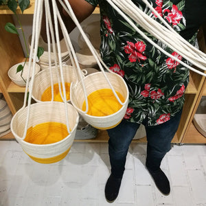 Hanging Planter Yellow