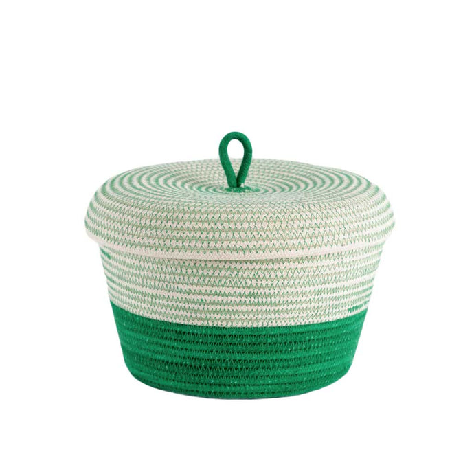 Lidded Bowl Basket Greenery Mia Melange