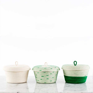 Lidded Bowl Basket Greenery
