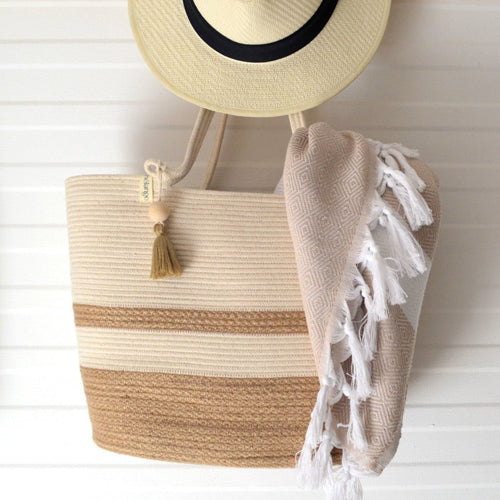 Shopper Bag Jute & Ivory