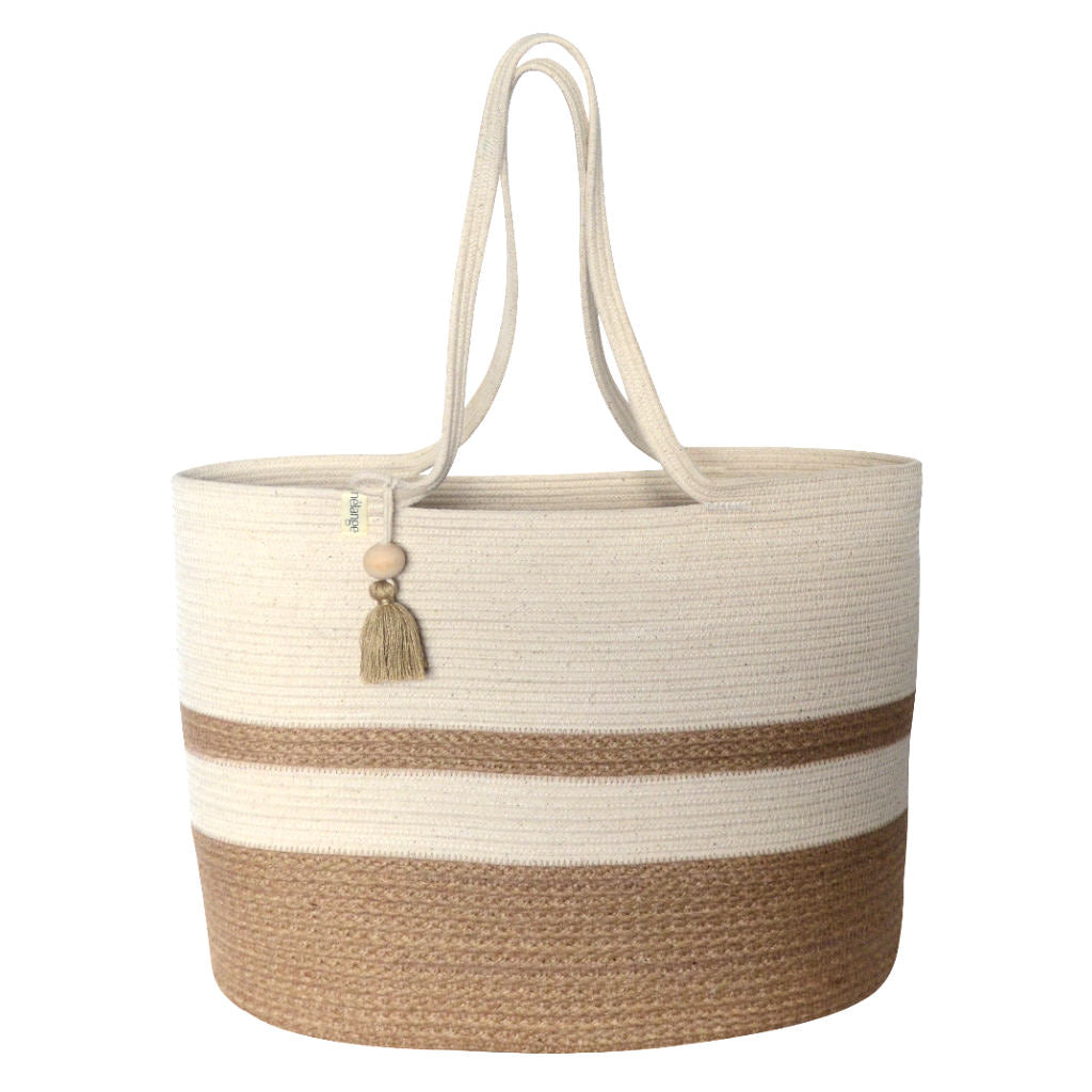 Shopper Bag Jute and Ivory