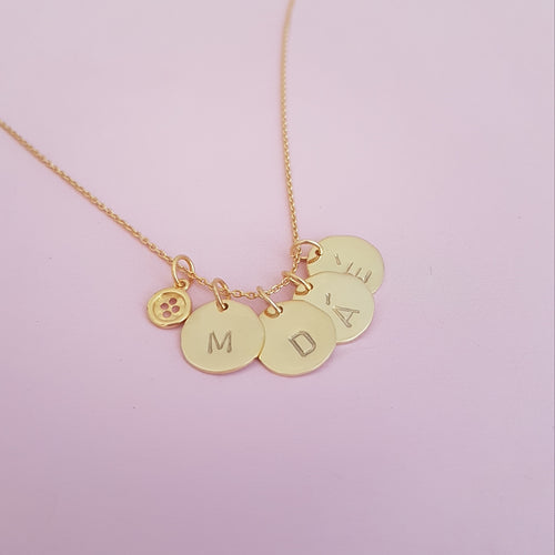 Personalised Mommy of 4 Necklace