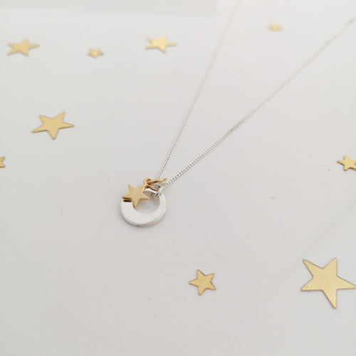 Mini Sun, Moon and Stars Personalised Necklace
