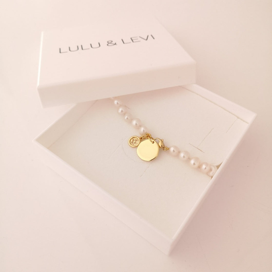 Freshwater Pearl Personalised Button Bracelet