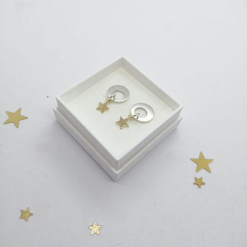 Sun, Moon and Stars Earrings