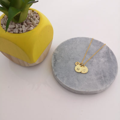 Personalised Initial Necklace, in gold