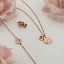 "Load image into Gallery viewer, ""Mothers are like buttons"" Rose Gold Gift Set"