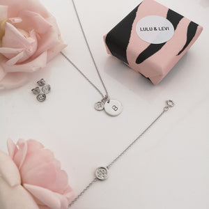 """Mothers are like buttons"" Silver Gift Set"