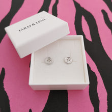 Load image into Gallery viewer, Silver Button Earrings