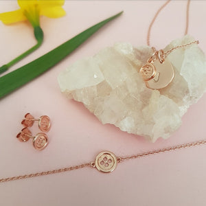 """Mothers are like buttons"" Rose Gold Gift Set"