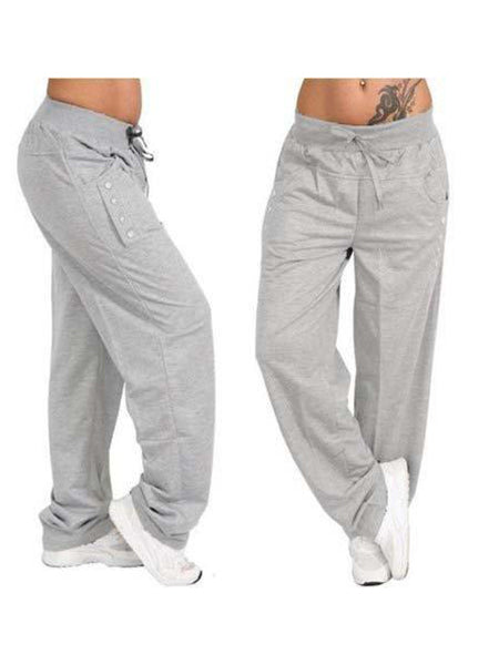 Pants - Casual High Waist Oversized Loose Sports Pants